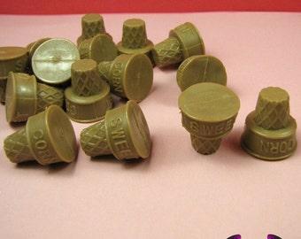 5 pc ICE CREAM CONE Sweet Corn Miniature Sweets Decoden Base Cabochon
