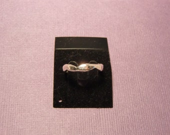 Handmade Sterling Silver Hammered & Shaped Ring - Handmade Zig Zag Ring - Size 6.75