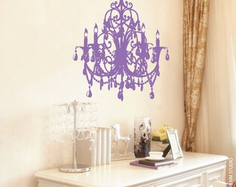 "Devillier Chandelier Wall Decal 22"" x 29"""