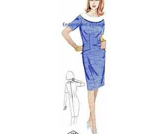 Plus Size (or any size) Vintage 1969 Dress Pattern - PDF - Pattern No 103 Deirdre