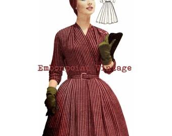 Vintage Sewing Pattern 1956 Dress PDF Plus Size (or any size)  - Pattern No 20 Luanne
