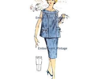 Plus Size (or any size) Vintage 1950s Maternity Skirt Pattern - PDF - Pattern No 71b Jo Skirt