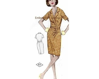 Plus Size (or any size) Vintage 1969 Dress Pattern - PDF - Pattern No 97 Tammi