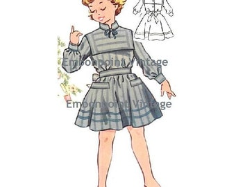 Plus Size (or any size) Vintage 1950s Dress Pattern - PDF - Pattern No 152 Kay