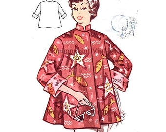 Plus Size (or any size) Vintage 1950s Beach Coat Pattern - PDF - Pattern No 120 Colleen