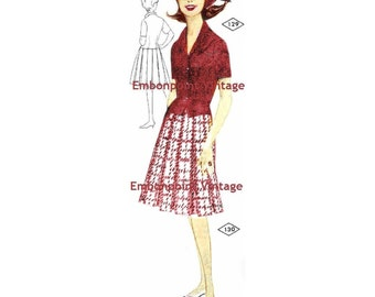 Plus Size (or any size) Vintage 1969 Skirt Pattern - PDF - Pattern No 130 Claire Skirt