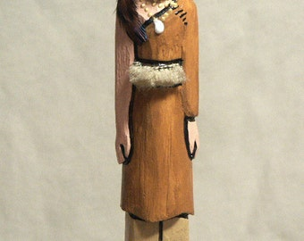 Ojibwa Native American Indian faceless art doll, gift collectible tribal history