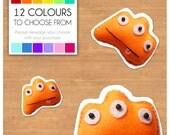 """Mini Felt Monster Plush Toy by BABUA - """"Lou"""" - 12 Colors"""