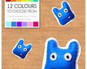 "Mini Felt Monster Plush Toy by BABUA - ""Ted"" - 12 Colors"