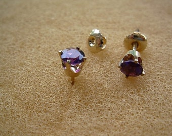 Amethyst earrings,14k gold.