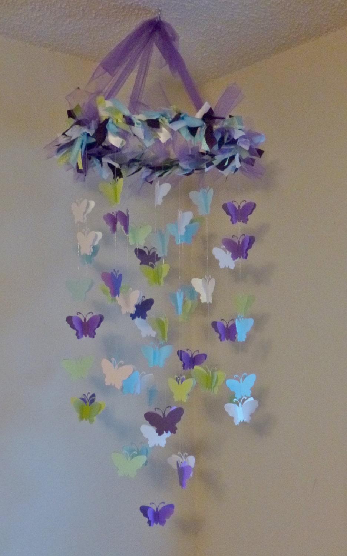 Farfalla mobile lampadario viola scuro calce di littlebopress