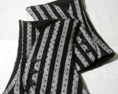 Black and White Stripe Spats