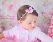 Easter Bunny Headband - Easter Headband - Baby Girl Headband - Baby Headband - Newborn Headband - Infant Headband - Toddler Headband