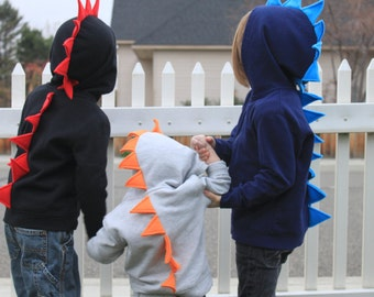 Dinosaur Spike Hoodie- Infant & Toddler