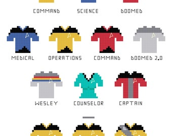 Cross Stitch Patterns -- Doomed Redshirts Expansion Pack