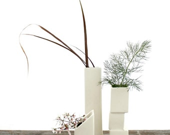 Cityscape Bud Vases- Set of 3 Individual Vases A