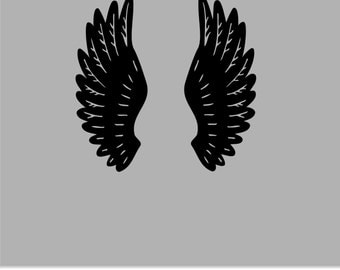 Angel Wings Vinyl Wall Decal - Angel Wings Wall Vinyl Sticker