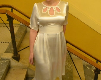 Vintage inspired wedding dress made to measure