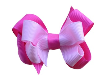 Custom 3 inch double boutique hair bow - layered hair bow, custom hair bow