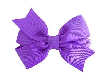 3 inch lilac hair bow - purple hair bow, pinwheel bow, girls hair bows, toddler bows, baby bows, purple bows, lilac hair bows