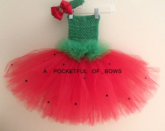 Strawberry Tutu Dress, Watermelon Birthday Tutu Dress