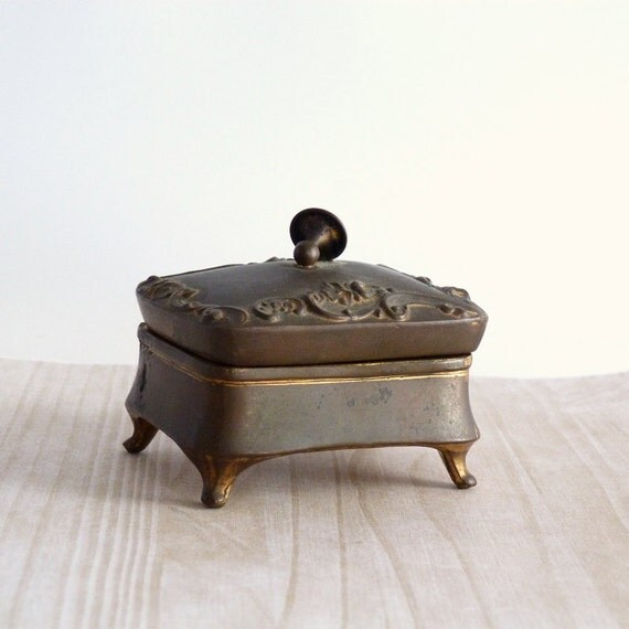 antique trinket box b w brainard and wilson art nouveau