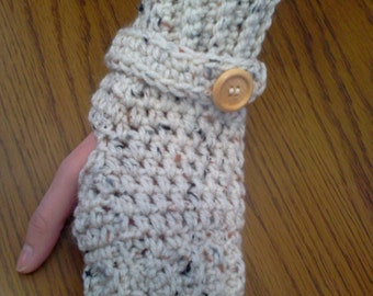Hand Crocheted Fingerless Gloves/Wrist Warmers