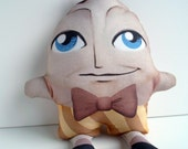 Nursery Decor Humpty Dumpty Plush Doll, Pillow, Mother Goose -- Safe for All Ages