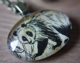 Panda Bear necklace - Vintage 1950s Image