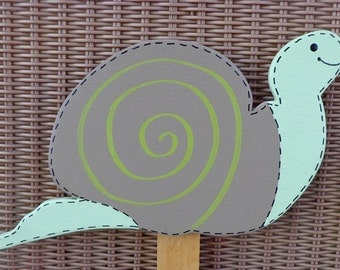 Snail Wooden Yard Sign