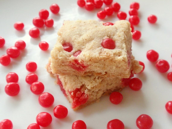 to Red Hot Cinnamon Shortbread Cookies - Valentine's Day Candy Cookies ...