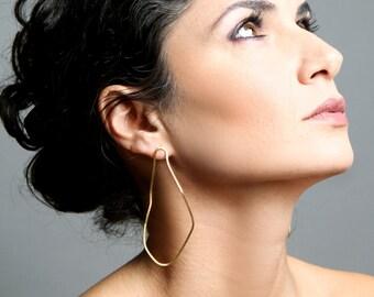 ON SALE, Free shipping, drop earrings, gold earrings, pear earrings, gift for her, gift ideas