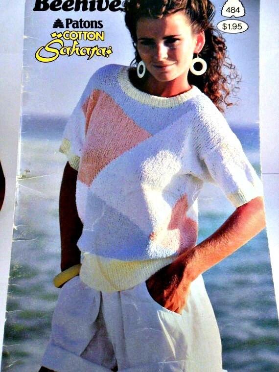 Beehive Patons Women's Summer Sweater Knitting Pattern Book 484