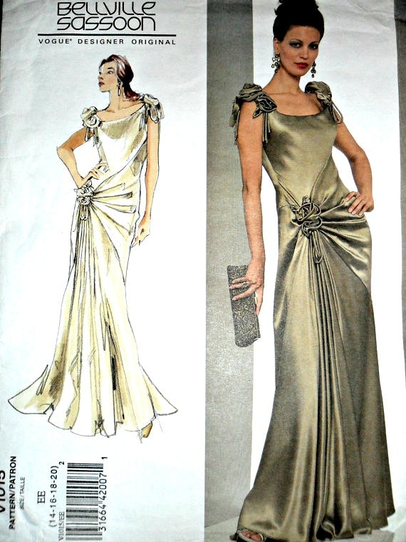 hair style 1950 evening gown patterns vogue draped evening gown advanced 2892