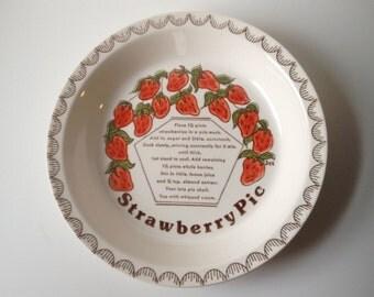 Vintage Strawberry Pie Dish