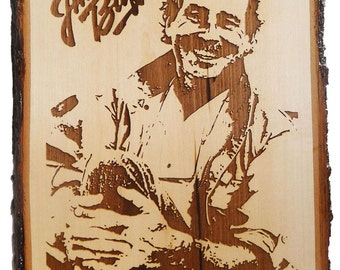 SALE / LIMITED TIME Handmade wood burned plaque / Jimmy Buffett