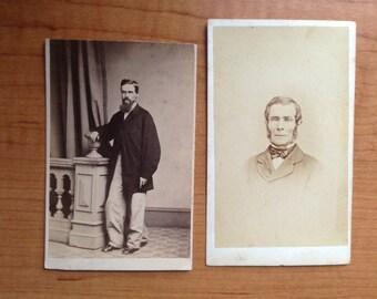 Two CDV Photos - Victorian Gentlemen