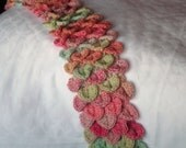 Child's Valentine Scarf - Pink & Green