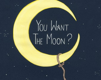 Popular Items For Lasso The Moon On Etsy