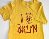 Chinese Food Lucky Cat Brooklyn T-Shirt