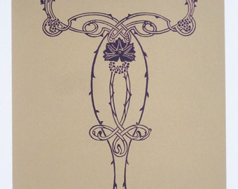 Art Nouveau : Floral Design - limited edition screenprint