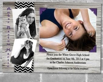 Announcements or Thank You Photo Cards for Graduation - Print your own file or Printed Cards with envelopes