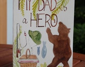 Original Watercolor Card - Father's Day