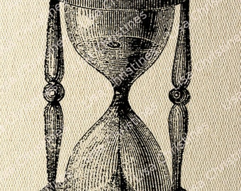 Hourglass Steampunk Instant Download Digital Transfer Image for Iron On / 42