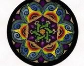 Merkaba Flower Patch stickers