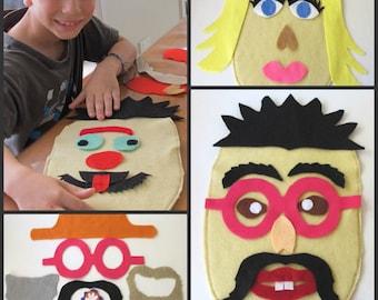 Funny Felt Faces Play Set, Preschool Toy