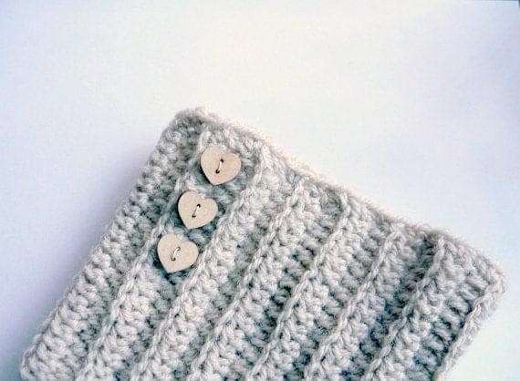 PDF crochet pattern Ribbed Boot cuff, leg warmers short chunky socks, DIY tutorial, Quick and easy gift