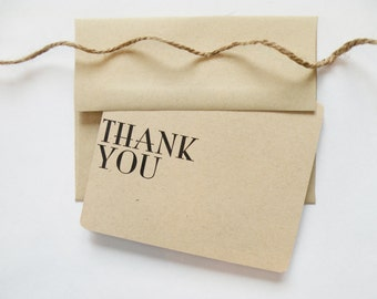 Modern Thank You Card - Single Card