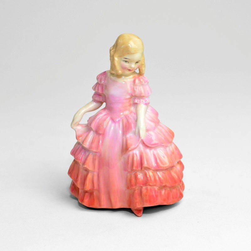 Sale Royal Doulton Rose Figurine Fancy Pink Ruffle Skirt
