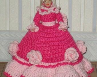 Crochet  Crochet Victorian Doll Dress Pretty in Pink